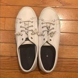 Sperry Women's Crest Vibe Leather Sneakers White